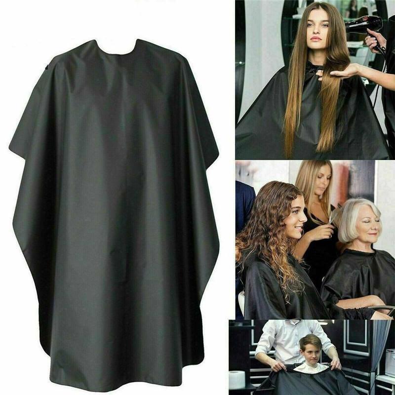 DHL 140 * 95см черный Barber Cape Удобные Fold волосы вырезать Парикмахерское платье Ткань Стайлинг Инструменты Парикмахерские принадлежности Водонепроницаемый FY4080
