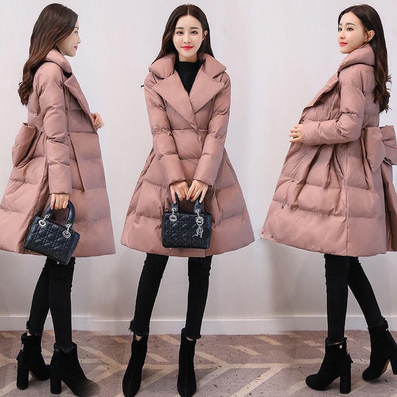 Femmes 2021 Nouveau mode d'hiver mi-temps en vrac Épaissir chaud Jakctes Femme Coton rembourré Manteaux dames chaud poches Parkas M379