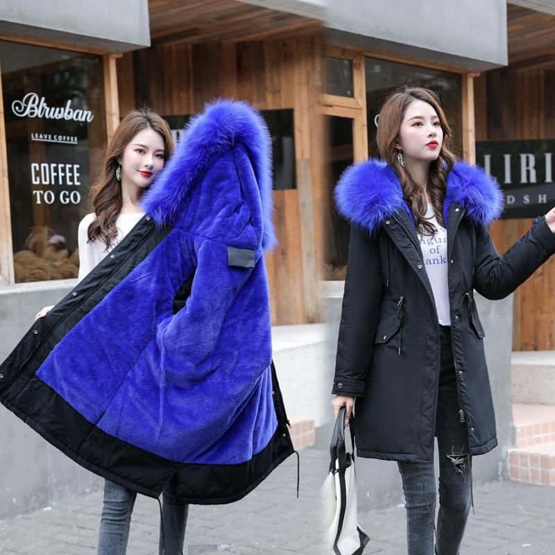 new Winter women long parkas Thicken big fur collar hooded jacket coats Casual female winter outwear plus size 4XL 5Xl 6XL 210203