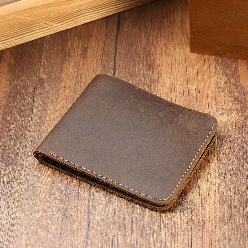HBP Foreign trade goods crazy horse skin men's wallet leather horizontal head layer leather wallet retro casual skin clip wholesale
