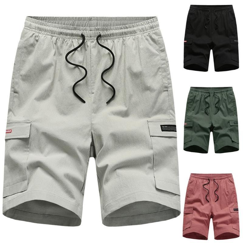 Short Masculino Shorts Shorts Men 2020 New Hombres Casual Algodón Pantalones cortos Bulk Trabajo Hombre Corta Homme Ete
