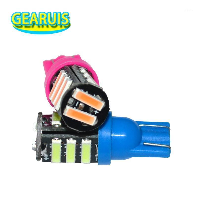 10pcs Super bright Car wedge W5W T10 11 SMD 7020 LED 80MA 194 168 Reading Light 12V Led Wedth Lights Instrument Lamps1
