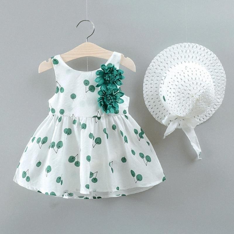 Летние ребёнки платья 2020 Детская одежда Hat 2 PCS Эпикировка младенца без рукавов Birthday Party платье принцессы для девочек wU7m #