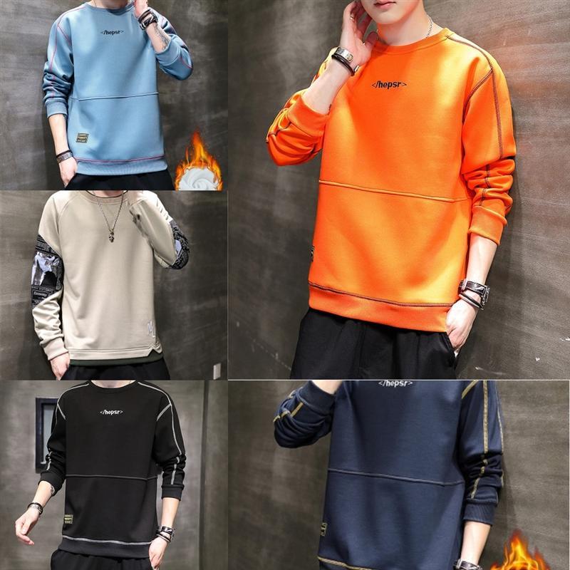 TM1 Punto de punto Hombres Puladores de manga larga Casual O Cuello Suéter Slim-Fit Suéter Moda Primavera Color Puro Moda Tops Fall Hombre Alto