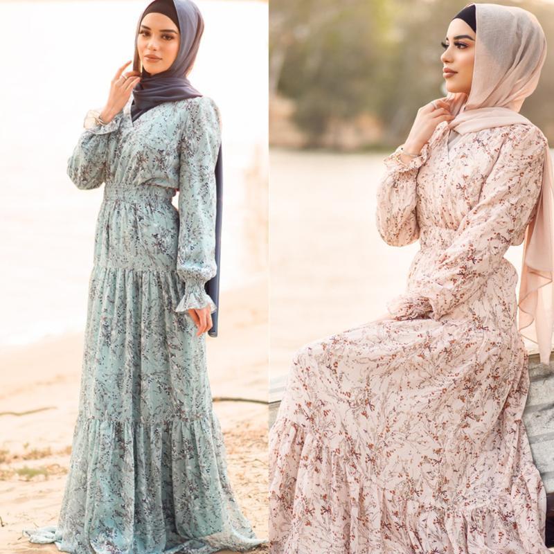 Seda musulmana Abaya Africano Vestidos completos Hijab Cardigan Kimono Long Toba Vestidos Jubah Medio Oriente Ramadán Árabe Islámico Vestido MUJE