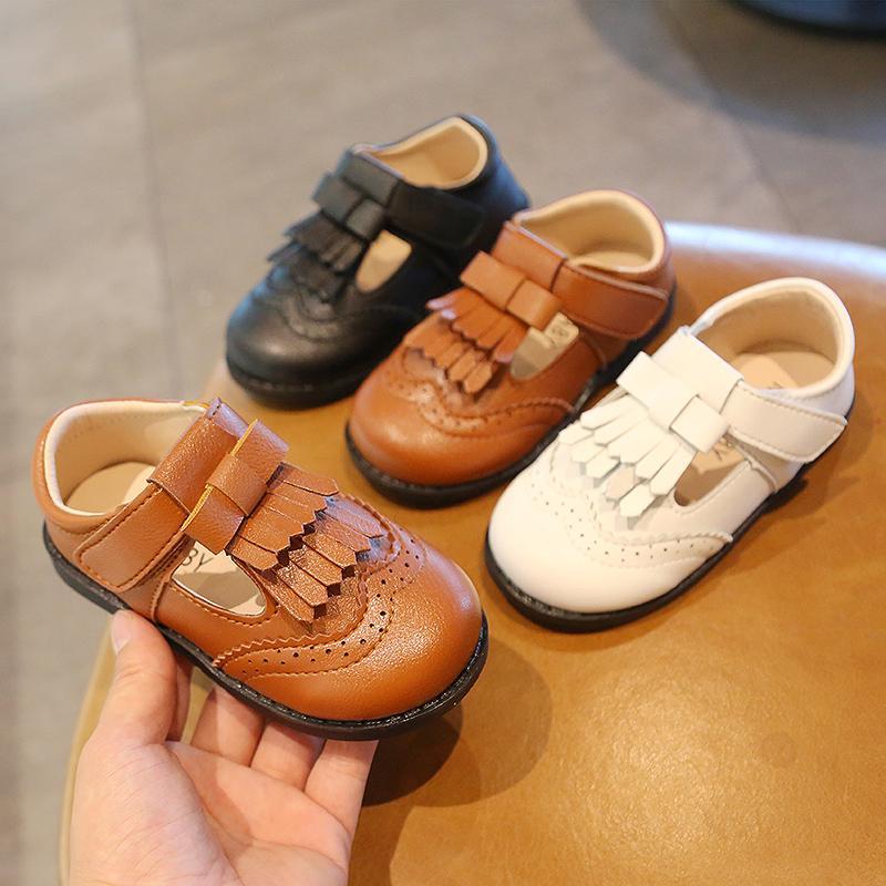 Düğün Show İçin Rahat Çocuk Kız Ayakkabı Deri Ayakkabı Çocuklar Casual Sneakers Flats Nefes Yumuşak