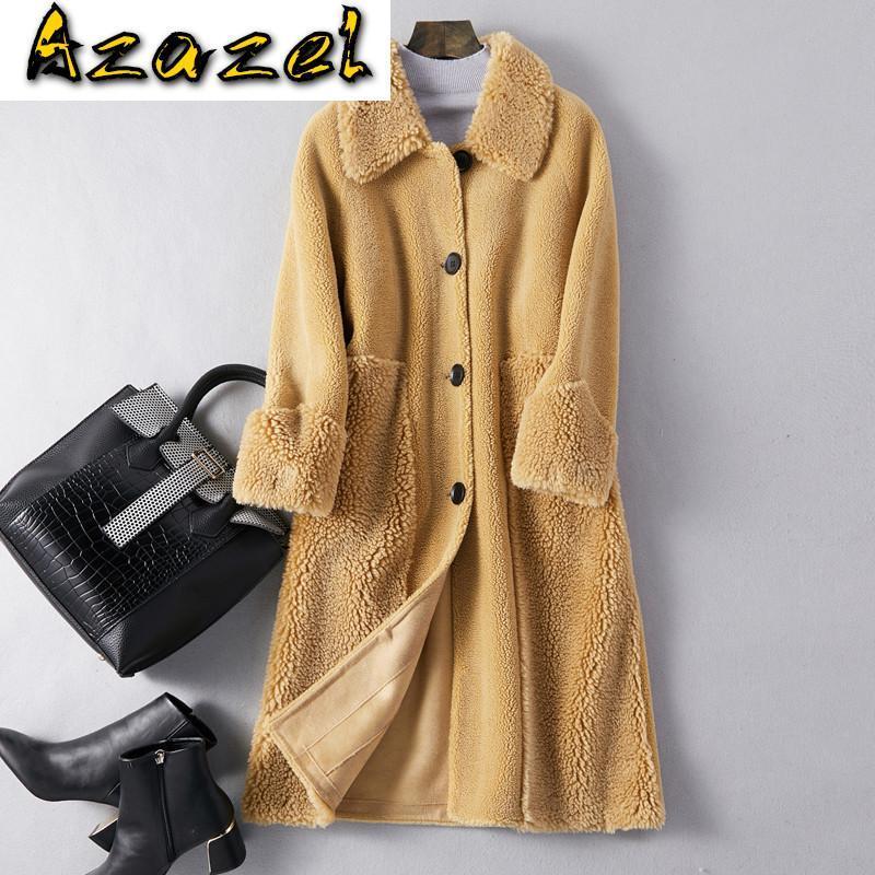 Vêtements d'hiver automne 2020 veste laine véritable manteau coréen élégant mouton élégant fourrure fourrure femmes hauts 1911067 zt2827