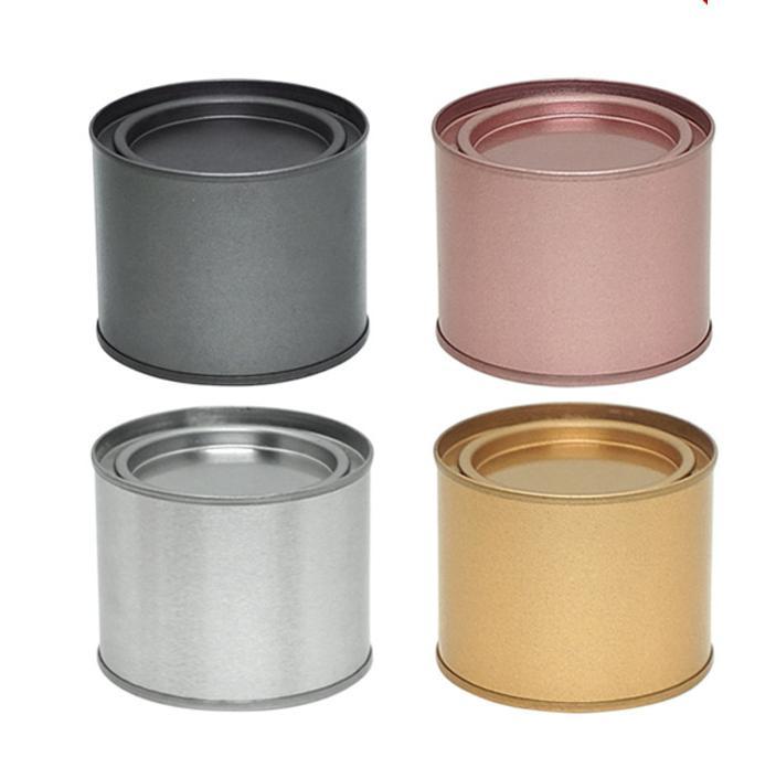 250 ملليلتر شاي يمكن شاي الزلد وعاء جرة كوميستيك الحاويات المحمولة ختم الشاي المعادن يمكن أن الصفيح جولة شمعة المنزل تخزين المطبخ يمكن FFA4498