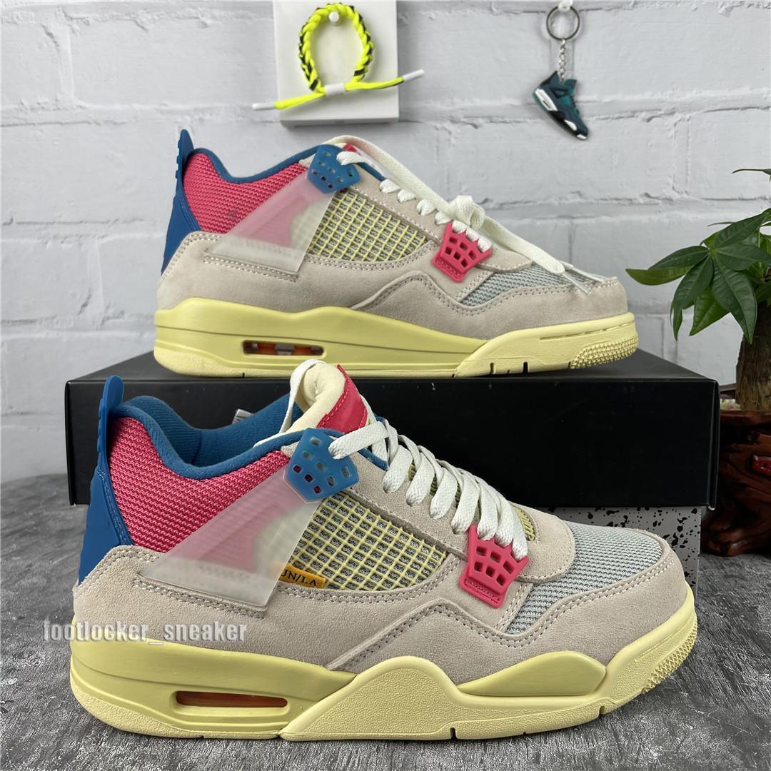 Herren Basketball Schuhe Houston Öler Weiße Zement Guave Ice gezüchtete Männer Frau Jumpman 4 4S Pilz Mens Trainer Sportschuhe Segel Chaussures