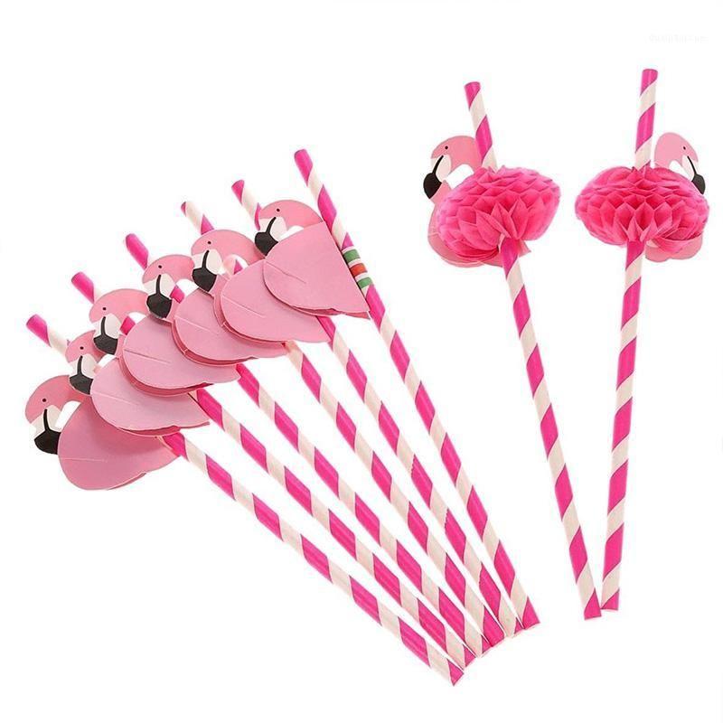 50 pcs criativo flamingo descartável palha crianças aniversário casamento piscina festa bar decoração suprimentos cozinha utensílios de cozinha1