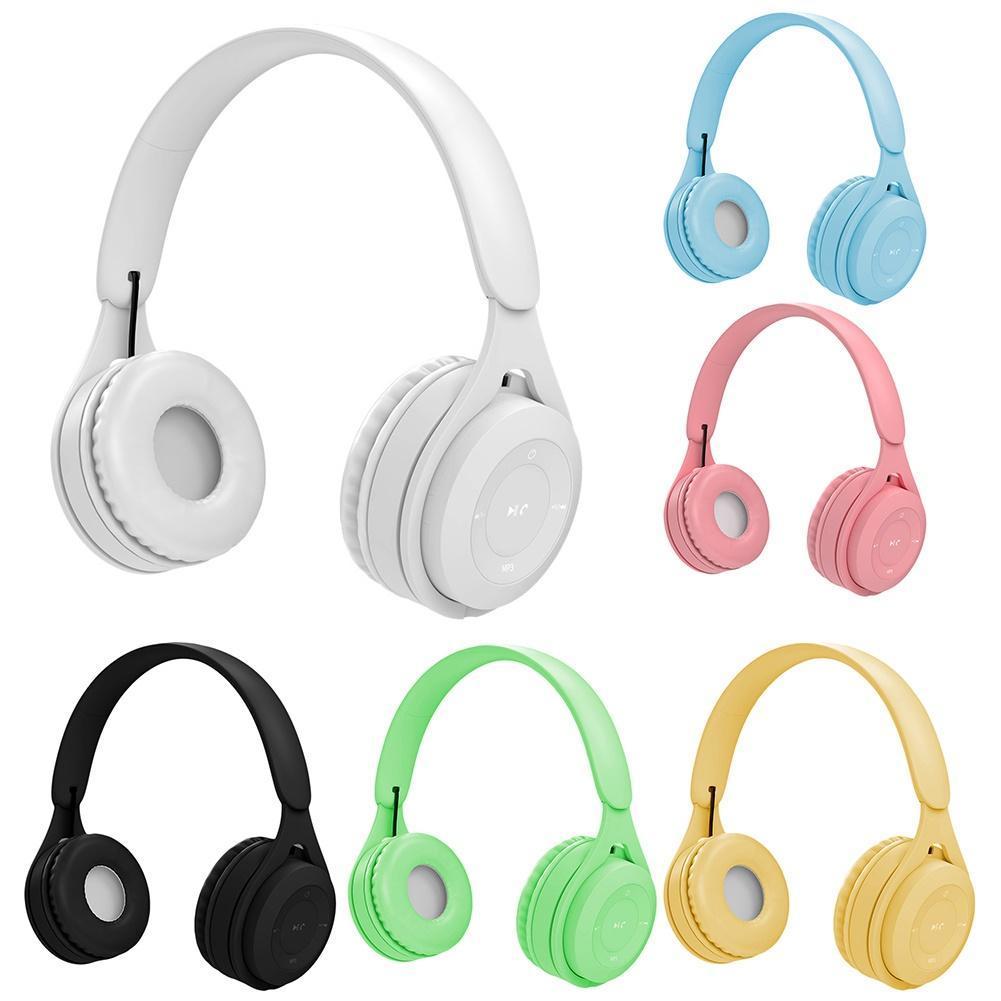 Y08 Bluetooth 5.0 auriculares sin hilos Soporte de tarjeta de radio FM TF Gaming Headset auriculares sin hilos del auricular del auricular de Bluetooth