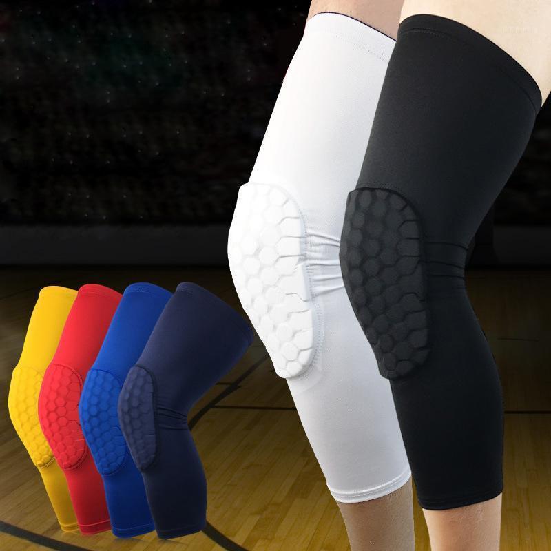 Dirsek Diz Pedleri 1 ADET Fitness Spor Emniyet Voleybol Basketbol Kneepad Sıkıştırma Petek EVA Kol Swars Brace Koruma Pad1