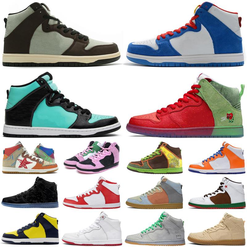 2020 Doraemon dunk men women shoes What The Invert Celtics Tiffany Baroque Brown high mens womens trainers sports sneakers size 36-45