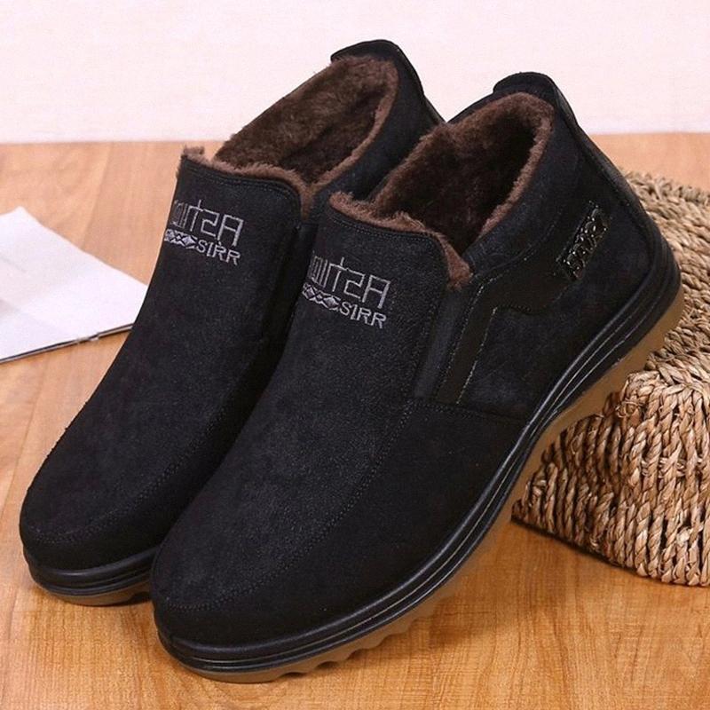 Men Winter Shoes Warm Winter Boots Men Fashion BootsOutdoor Walking Mans Footwear Mans Sneakers Plush Furry Footwear #sF9q