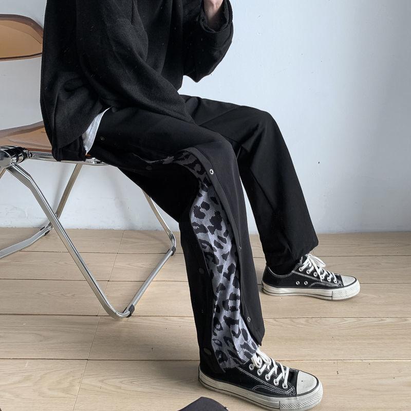 Trousers 2021 Men's Autumn Thin New Winter Straight Tube Plus Corduroy Pants Youth Wear CQRV