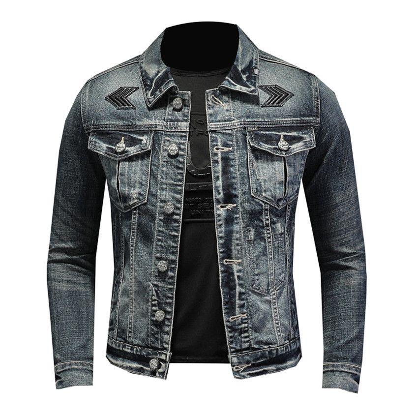 Giacca di jeans di inverno degli uomini modo di marca Autunno 2020 di alta qualità business casual jeans del rivestimento del cappotto maschile cappotti Streetwear Abbigliamento C1108