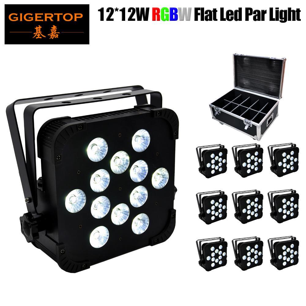 tekerlekli Çin LED Par Işık Fikstür 12X12W Barre Sahne Efekt yıkamak ışık RGBW Alüminyum Konut LED Arka Plan Yıkayıcı 10in1 flightcase