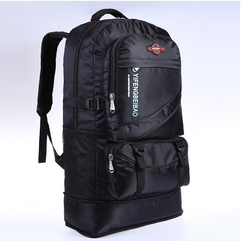 60L Waterproof Men Nylon Travel Sports Bag Pack Outdoor Mountaineering Hiking Climbing Camping Backpack for Male Q1221