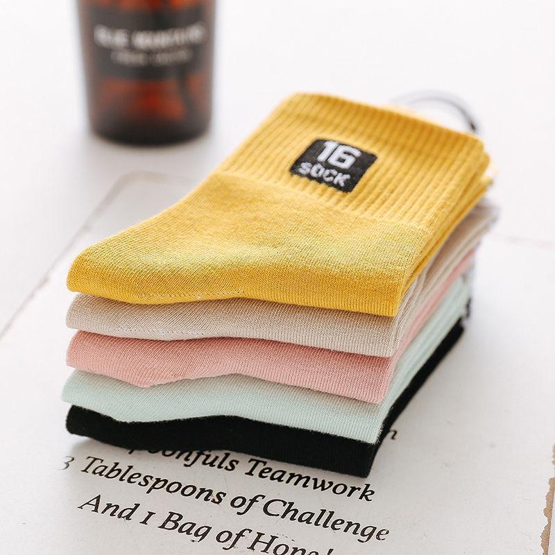 liser 5 pares / lote mulheres meias bonito elegante adorável kawaii desenho animado estudante doce meias casual me sock quente quatro estações1