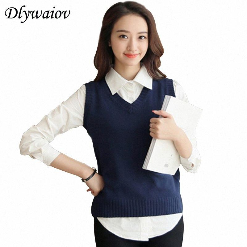 Autumn Wool Sweater Vest Women 2020 New Sleeveless O-Neck Knitted Vest College style Female Casual Tank Tops Pullover Y200422 z1TY#
