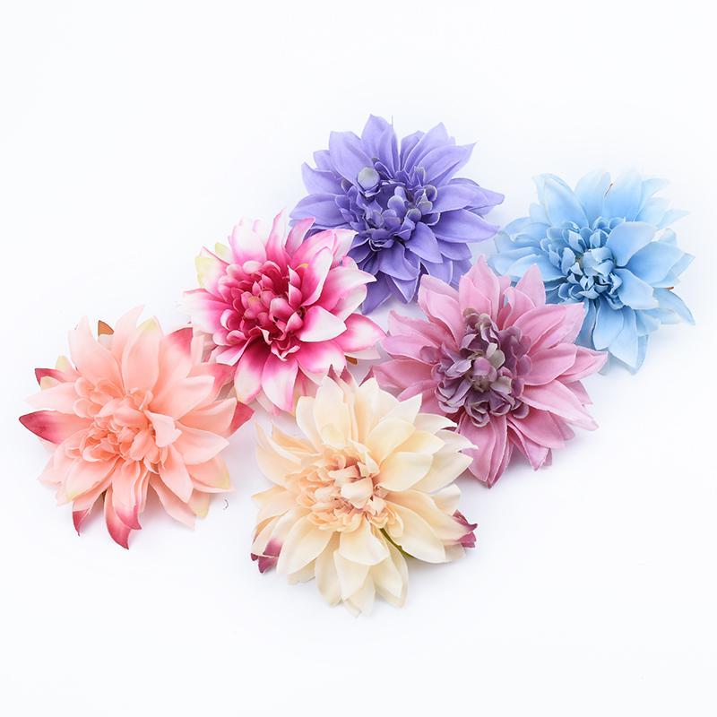 10 조각 저렴한 가짜 가베 머리 꽃 벽 결혼식 차 홈 장식 액세서리 장식 화분 인공 꽃
