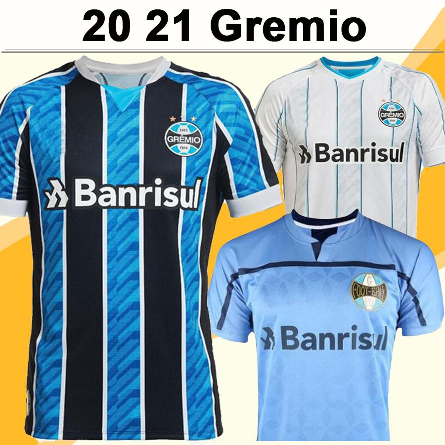 20 21 Gremio GEROMEL Mens Soccer Jerseys New KANNEMANN LUAN AZEVEDO EVRTON Home Away Football Shirts Camisetas de futebol Uniforms