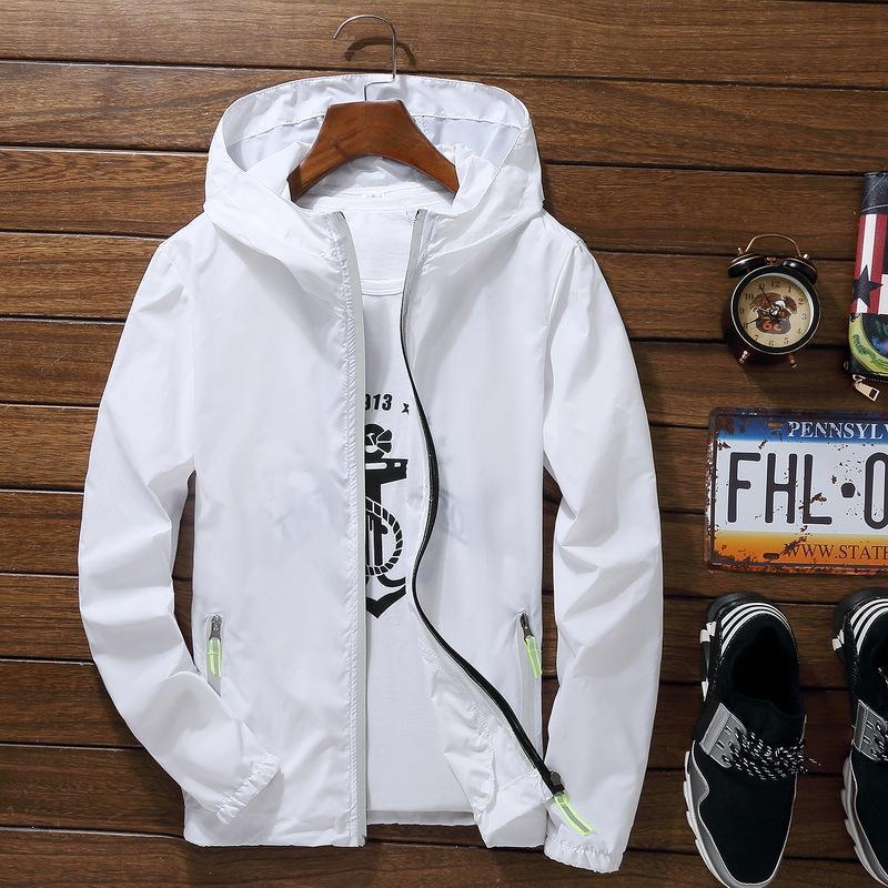 Sport im Freien Radfahren Thin-Mantel-Jacken-Mann-beiläufige lose Herren Windjacke Jacke Malé Candy-Colored Outwear Tops Reflektierende
