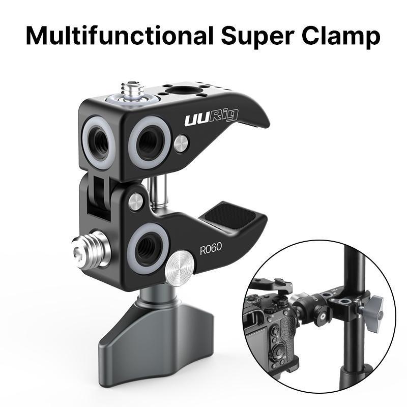 UURig Metall Super Clamp Securing Clip tragbares Reise-Stativ für DSLR Zubehör
