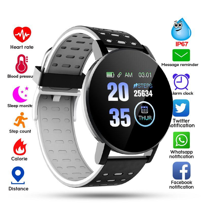 2020 Bluetooth Smart Watch Uomo Pressione Blood Sport Twatch Donne Uomo Sport Tracker Whatsapp per Android IOS Smart Clock HD Schermo HD Sellin