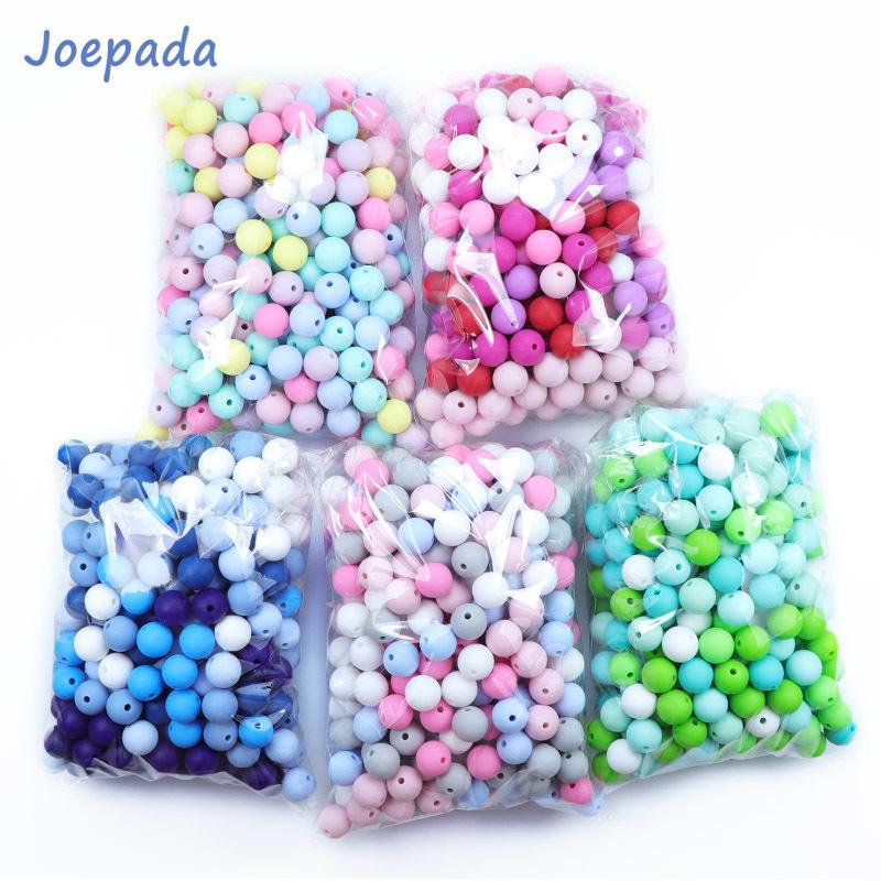 Joepeada 300Pcs/lots 12mm Round Silicone Teething Beads Food Grade Silicone Rodents For DIY Baby Teething Necklace Baby Teether 201124