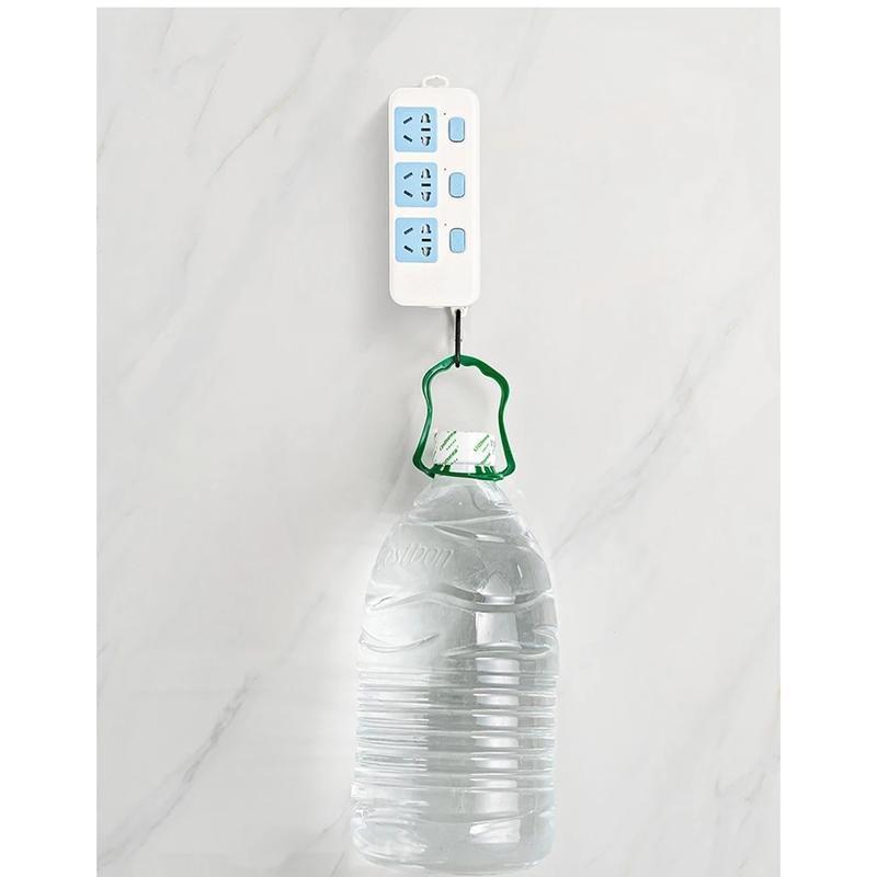 10/5 / 1PAIR Ganchos de pared autoadhesivos de doble cara Hogar 6 * 6 cm Ganchos sin costuras Reutilizable Hook montado en la pared antideslizante O JLLPJD