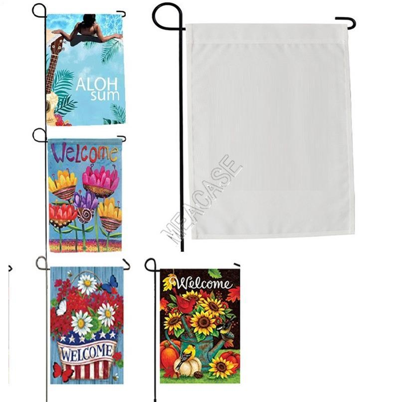 Sublimation Polyester Fiber Blank Garden Flag for Valentine's Day Easter Day Hot Transfer Printing Banner Flags Consumables New D102904