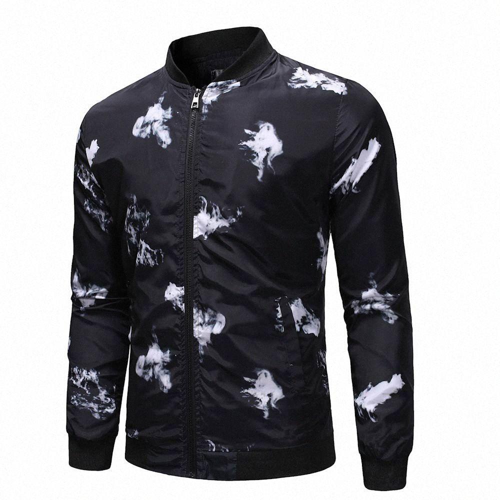 Männer Jacke beiläufige Winter-warmer Männer-Kleidung Pullover Outwear dünne Zipper Printed Sweatshirt Hip Hop Street Coat X4Cd #