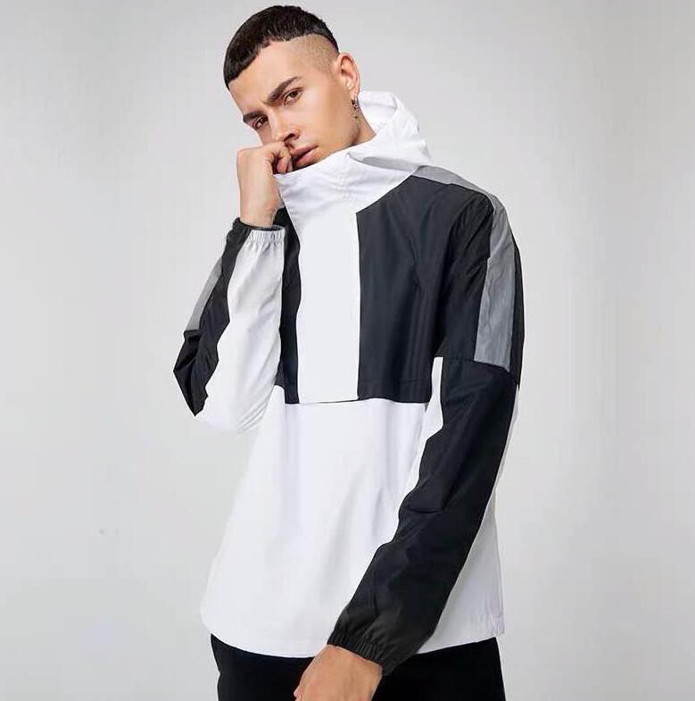 편지 겨울 남성 바람막이 후드 캐주얼 재킷 새로운 패션 통기성 코트 사이즈 M-4XL 높은 품질 남성 디자인의 재킷 코트