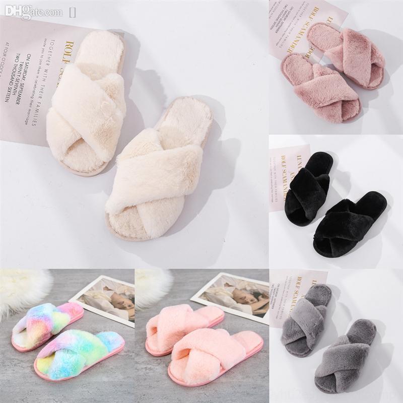 sCdBm Donna Studded Red bottom Designer slippers plush Cross rubber nails soft bottom willow wgg slipper slippers men