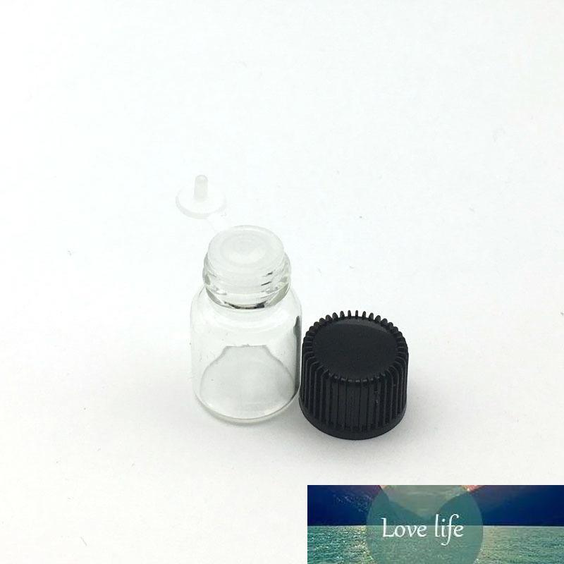 10pcs ricaricabile essenziale bottiglia di vetro olio con orifizio riduttore Siamese Plug 2ml Cancella fiale del profumo campione