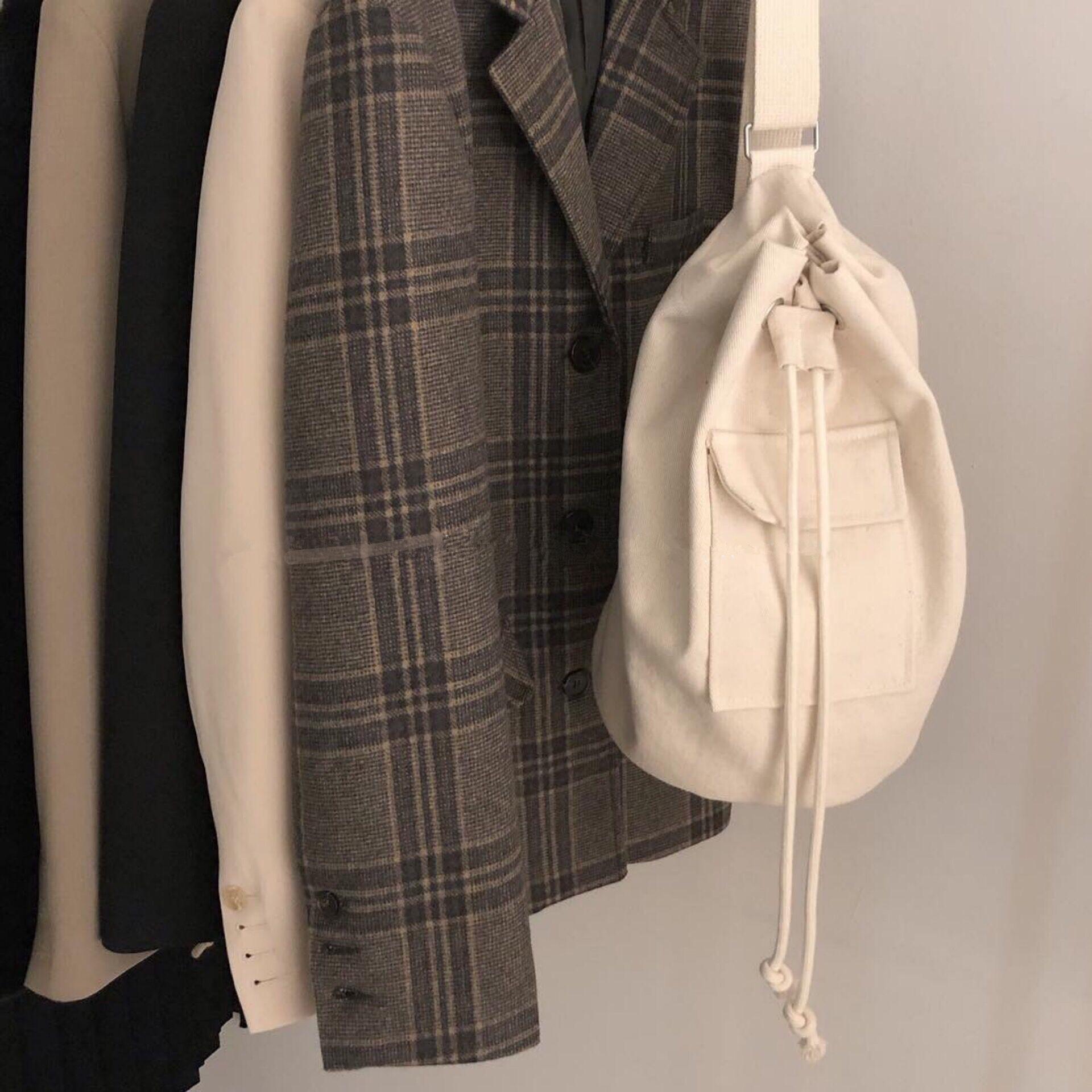 Стильное ведро плечо через плечо Сумка мессенджера квадратные сумки оптом женские универсальные повседневные карманные холст-дизайнеры Drawstring B PRMS