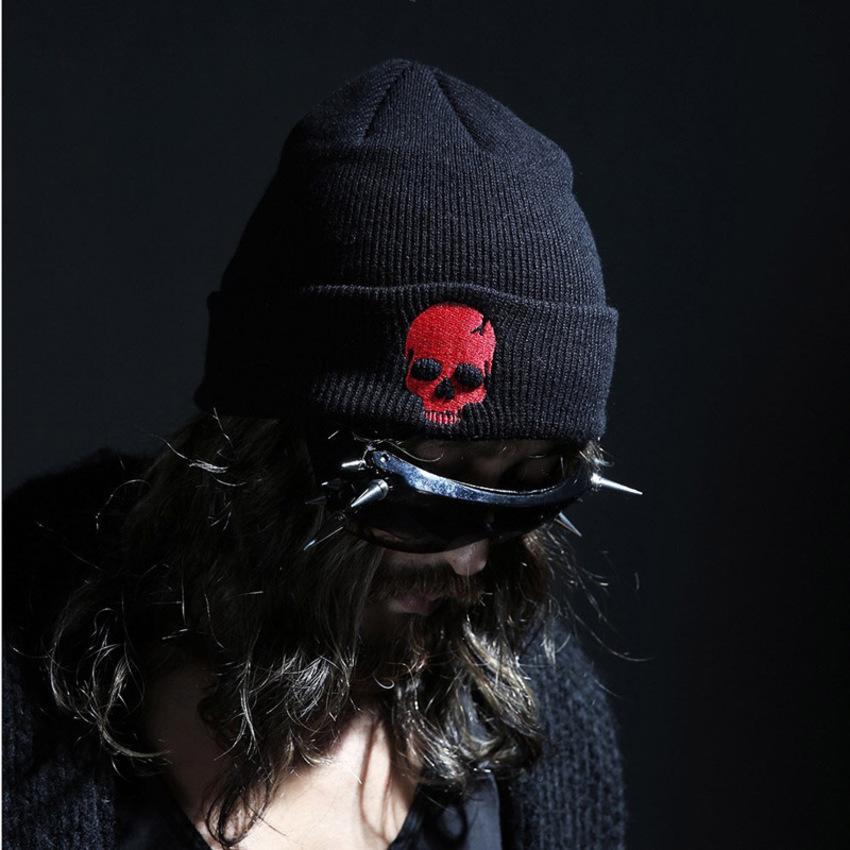 Nuevo otoño invierno y lana de mujer bordado de lana bordado de punk personalizado Hip hop jersey sombrero de punto 91cu