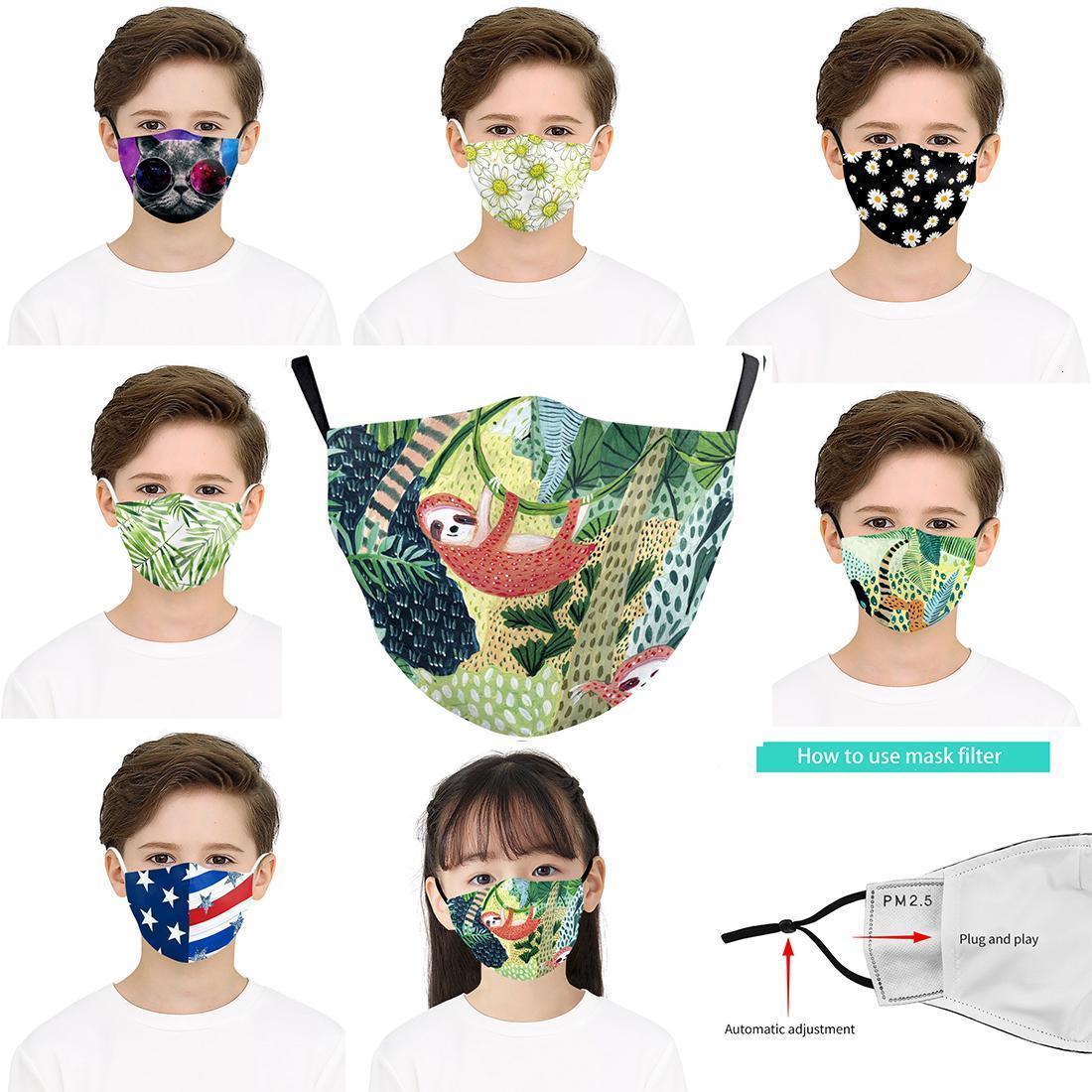 3D Flag Designer Flowers Kid Digital Printing Protective Green Mask Adjusta Face American Masks I5SN F Oxit