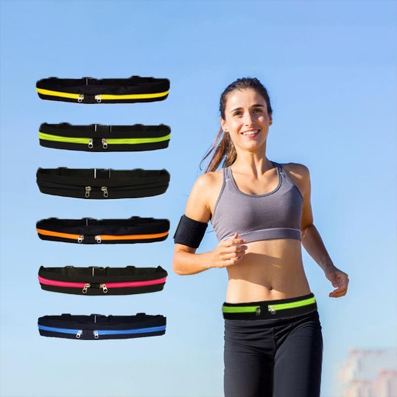 Da cintura Movimento New alta qualidade saco impermeável Telefone Belt pessoal saco Nylon cintura Man Pacote E Mulheres Casual Desportivo cintura Bag