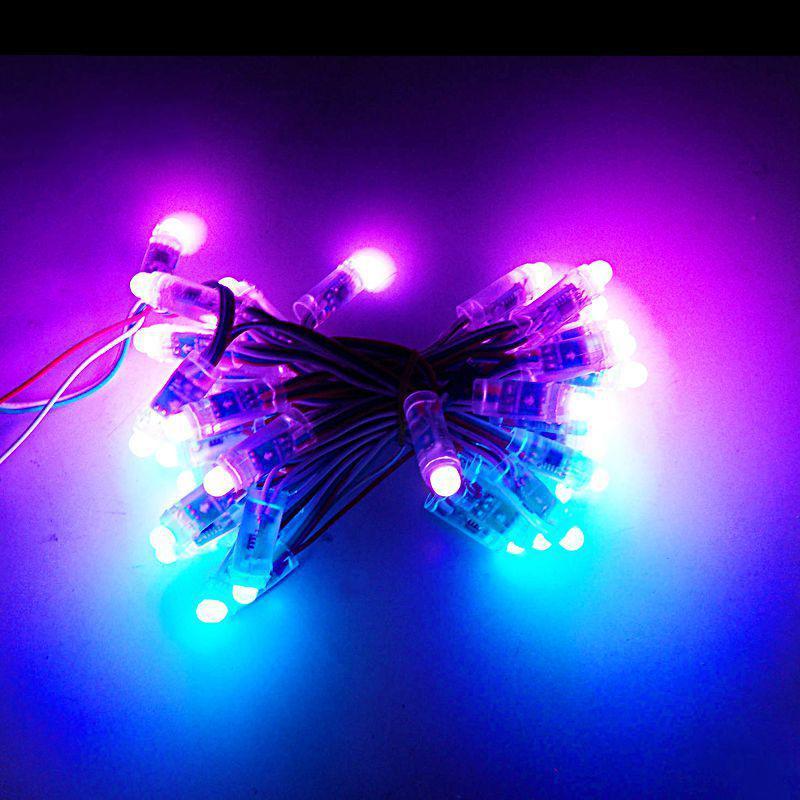 Lampade del modulo LED LED Stringa pubblicitaria impermeabile digitale digitale full color IP68 LED pixel luce per la decorazione degli annunci
