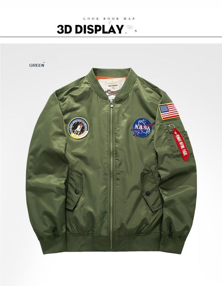 Veste col hommes occasionnels de haute qualité veste Air Force One MA01 hommes veste de vol de style américain automne et l'hiver