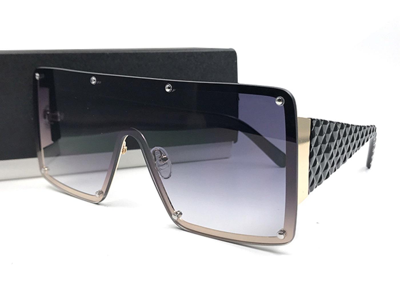 النساء النظارات الشمسية الفاخرة كبيرة مربع برشام الإطار أنيقة تصميم خاص المعتاد عدسة oculos دي سول مع القضية