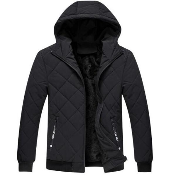giacca calda d'inverno dei nuovi uomini di vendita calda breve in cotone con cappuccio più velluto spesso casuale giacche Cappotti imbottito cappotti parka