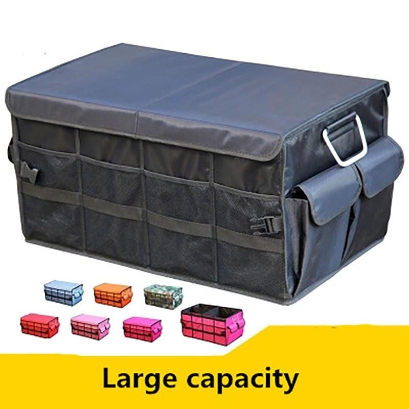 Универсальный автомобиль Boot Organizer Oxkford SUV складной багажник Организатор инструмента Пищевая сумка Автоматическая Складная коробка для хранения Крышка аксессуары T200506