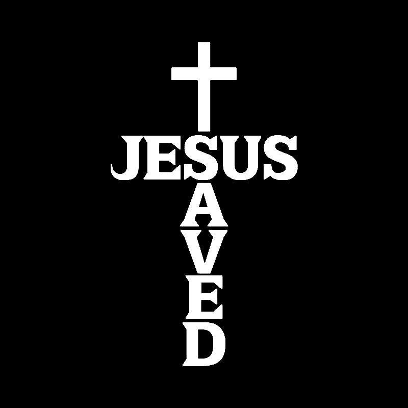 Иисус благословит христианский перекрестный наклейк украшения автомобиля личности автомобиля окна водонепроницаемая наклейка черный / белый, 13см * 8 см
