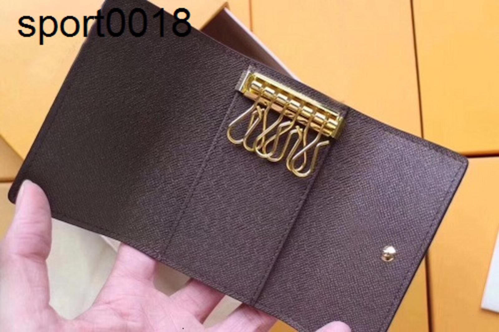 6 llaves del portatarjetas de la manera de las mujeres Clave la caja del filtro de bolsillo Pochette Accesorios N62630 M62630