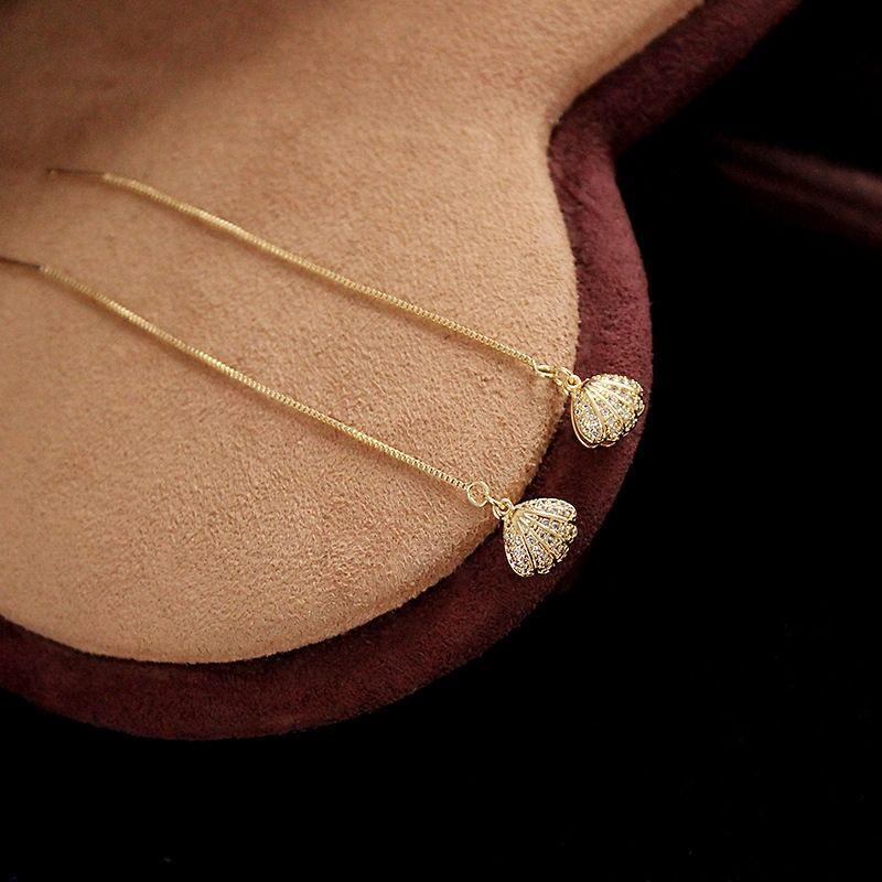 6DC3z Rivd Korean jewelry handmade freshwater stone chain shell inlaid diamond Handmade pearl bracelet stone braceletbracelet Ear Wire Earrin