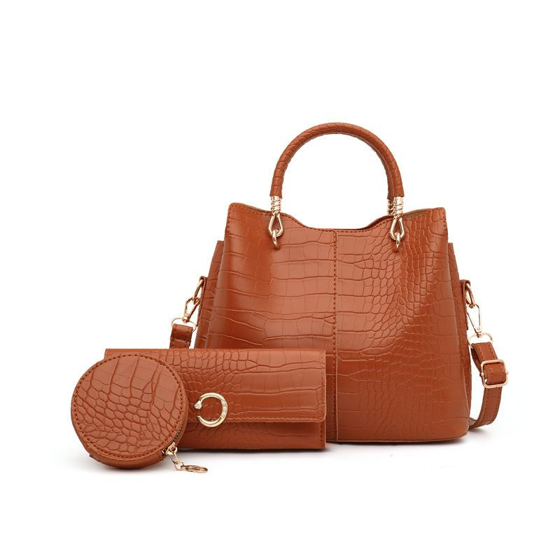 HBP Composite Bag Messenger bags handbag purse new designer bag high quality fashion Three-in-one combination Check Casual