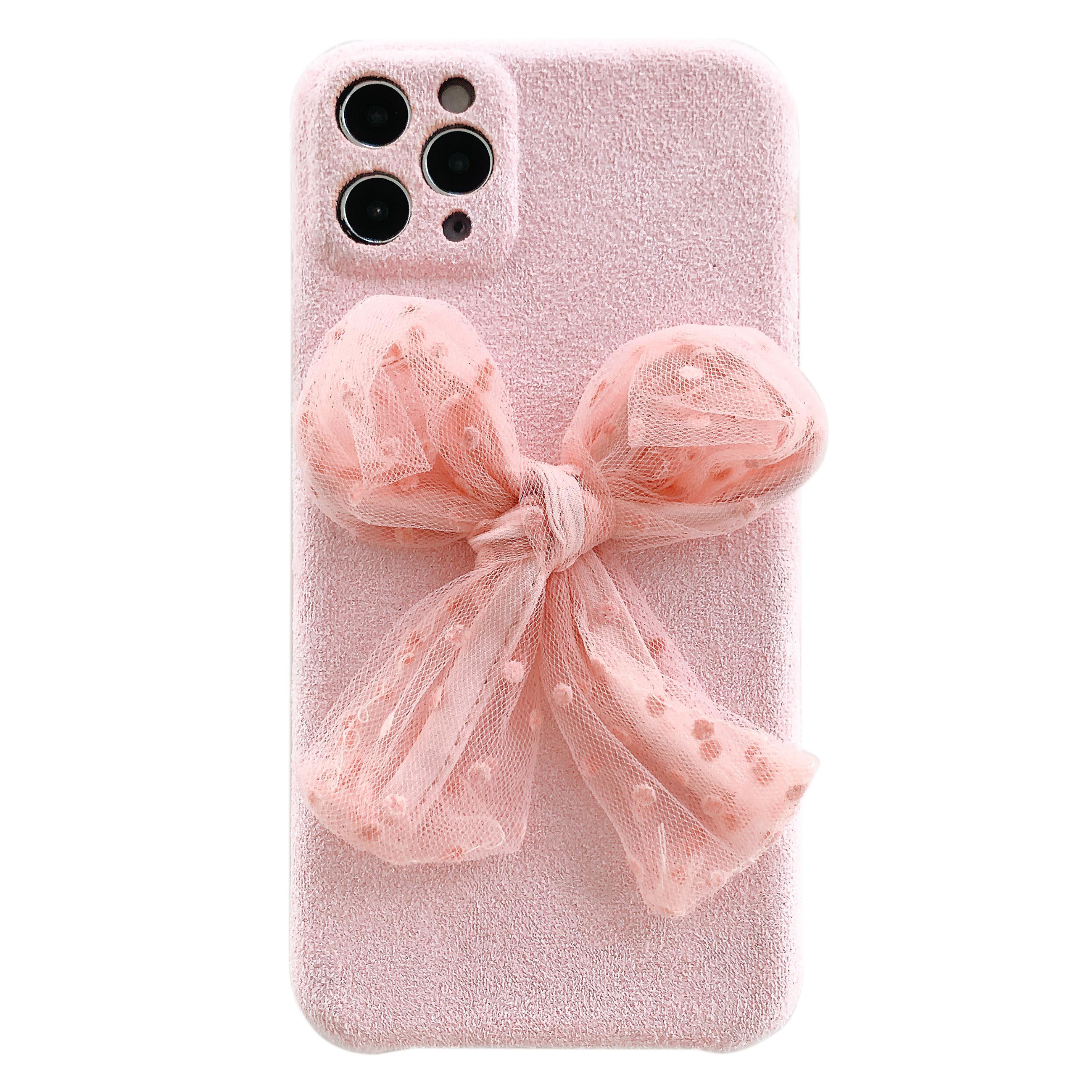 IPhone 11 Pro случай Bowknot волокна телефон случае для IPhone 11Pro / MAX / XS
